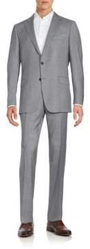 Hickey Freeman Regular-Fit Wool Tic Weave Suit