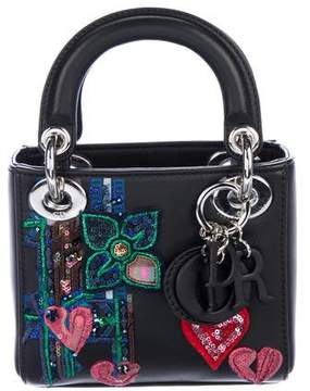Christian Dior 2015 Embellished Micro Lady Bag