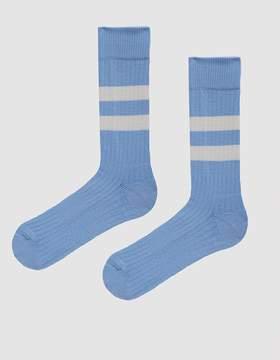 Norse Projects Bjarki Cotton Sport Socks in Luminous Blue