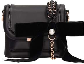 Sophia Webster Blakc Leather Claudie Pearl Bag