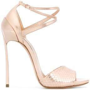 Casadei snake-effect sandals