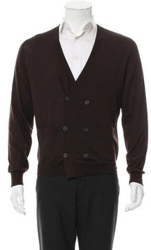 Dries Van Noten Merino Wool Double-Breasted Cardigan