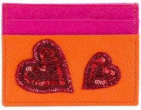 Dolce & Gabbana sequin heart appliqué cardholder