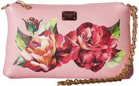 Dolce & Gabbana Vitello Bottalato Chain Mini Bag Handbags - PINK ROSE - STYLE