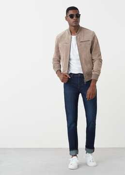 Mango Outlet Straight-fit dark Bob jeans