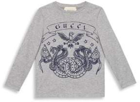 Gucci Little Boy's & Boy's Dragon-Print Cotton T-Shirt