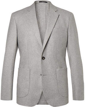 Hardy Amies Grey Slim-Fit Unstructured Cashmere Blazer