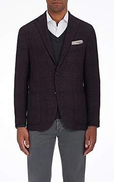 Boglioli Men's K2 Windowpane-Checked Cashmere-Blend Two-Button Sportcoat