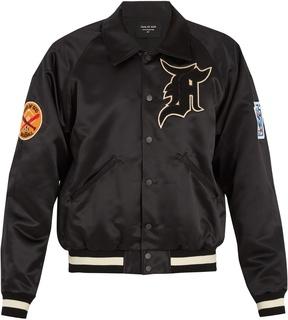 Fear Of God Logo-appliqué duchess-satin bomber jacket