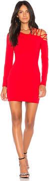 Susana Monaco Laced Open Shoulder Dress