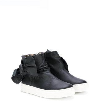 Roberto Cavalli bow detail hi-top sneakers