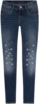 Levi's Girls 7-16 710 Super Skinny Fit Star Embellished Jeans