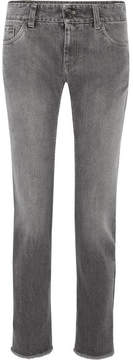 Brunello Cucinelli Metallic Mid-rise Straight-leg Jeans - Gray