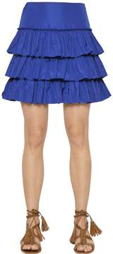 Blugirl Tiered Ruffled Taffeta Skirt