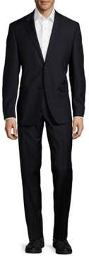 Lauren Ralph Lauren Pin-Striped Woolen Two-Piece Suit