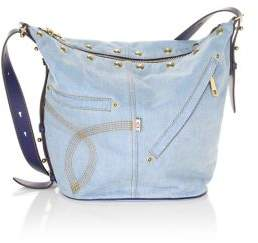 Marc Jacobs The Sling Convertible Studded Denim Bag - DENIM - STYLE