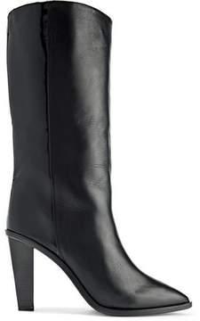 IRO Nyasha Paneled Smooth And Patent-Leather Boots