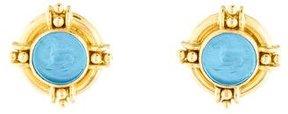 Elizabeth Locke Intaglio Clip-On Earrings
