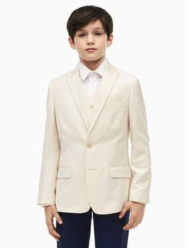 Calvin Klein boys slub suit jacket