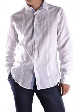Massimo Rebecchi Men's White Cotton Shirt.