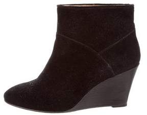 Maje Suede Ankle Booties