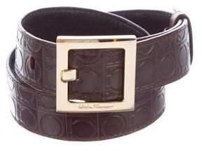 Salvatore Ferragamo Logo Embossed Belt