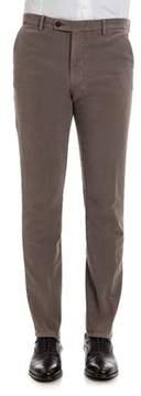 Berwich Men's Brown Cotton Pants.