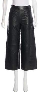 RtA Denim Leather High-Rise Pants