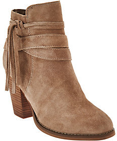 Sole Society As Is Suede Ankle Boots w/ Tassel Detail - Rumi