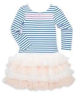 Billieblush Toddler's, Little Girl's& Girl's Stipe Jersey Tulle Dress