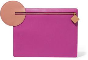 Roksanda - Aplin Appliquéd Textured-leather Pouch - Pink