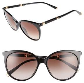 Max Mara Women's Desigi 55Mm Gradient Cat Eye Sunglasses - Black/ Rose Gold