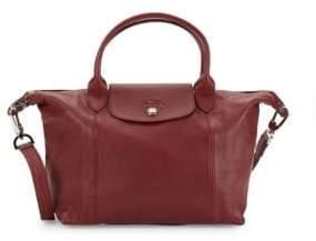 Longchamp Top Zip Leather Satchel