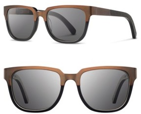 Shwood Women's 'Prescott' 52Mm Titanium & Wood Sunglasses - Bronze Titanium/ Black/ Grey