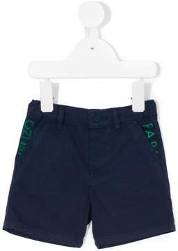 Kenzo contrast logo print shorts