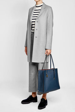 Marc Jacobs Leather Tote - BLUE - STYLE