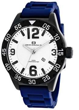 Oceanaut Aqua One OC2714 Men's Round Blue Silicone Watch