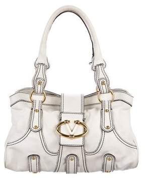 Valentino Leather Logo-Accented Shoulder Bag