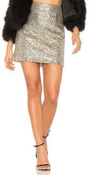 For Love & Lemons Eloise Sequin Mini Skirt