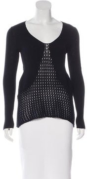 CNC Costume National Macramé Long Sleeve Sweater