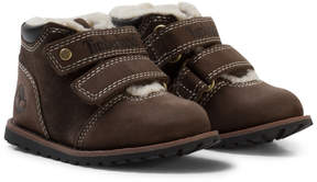 Timberland Kids Dark Brown Velcro Pokey Pine Shoes