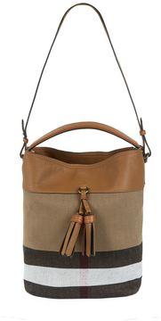 Burberry Medium Ashby Check Tassel Bag - BROWN - STYLE
