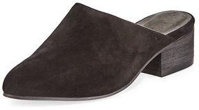 Eileen Fisher Sylvia Suede Slide Mid-Heel Mule