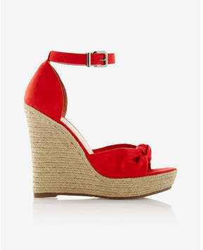 Express knotted espadrille wedge sandals