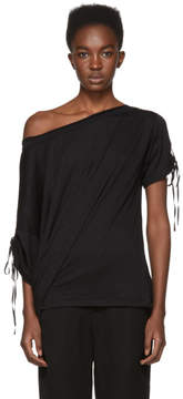 Ann Demeulemeester SSENSE Exclusive Black Off-the-Shoulder T-Shirt