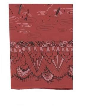 Valentino Women's Red Silk Scarf.