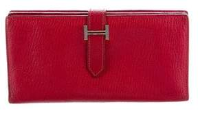 Hermes Chevre de Coromandel Bearn Wallet - RED - STYLE