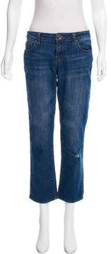 DKNY Cropped Mid-Rise Jeans