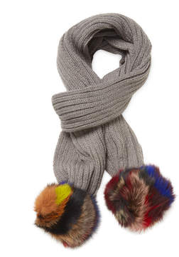 Jocelyn Women's Knitted Fox Fur Scarf