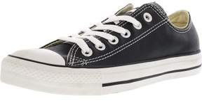 Converse Chuck Taylor All Star Ox Leather Black / Milk Ankle-High Fashion Sneaker - 7.5M 5.5M